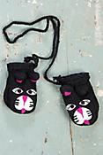 Children's Cat Handmade Wool Mittens