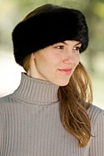 Women's Longhaired Mink Fur Headband