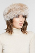Women's Sheared Mink Fur Hat with Fox Fur Trim