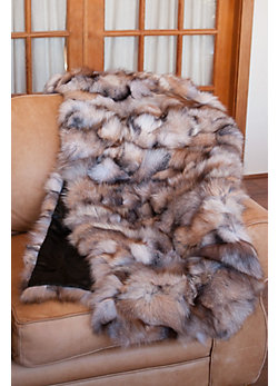 Canadian Fox Fur Throw