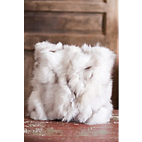 """Double-Sided 16"""" X 16"""" Fox Fur Sections Pillow, Blue Western & Country"""
