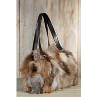 Women's Valerie Crystal Fox Fur Tote Bag Western & Country
