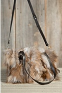 Women's Juliette Crystal Fox Fur Convertible Handbag