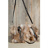 Women's Juliette Crystal Fox Fur Convertible Handbag Western & Country