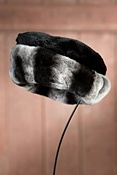 Women's Sheared Beaver Fur Hat with Rabbit Fur Trim