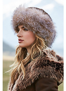 Mink Fur Cossack Hat with Fox Fur Trim