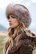 Women's Mink Fur Hat with Fox Fur Trim