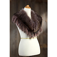 Raccoon Fur Collar with Fringe $459.00 AT vintagedancer.com