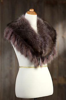 Raccoon Fur Collar with Fringe