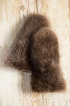Men's Shearling-Lined Raccoon Fur Gauntlet Gloves