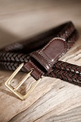 Men's Milan Woven Leather Belt