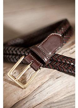 Milan Woven Leather Belt