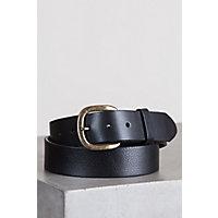 Justin Basic Leather Work Belt, BLACK, Size 42