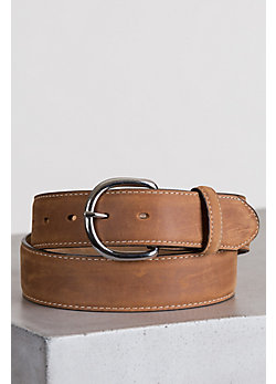 Men's Classic Western Leather Belt