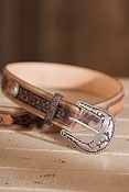 Lubbock Lace Leather Belt