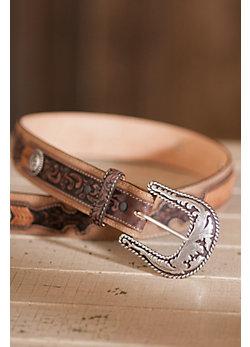 Lubbock Lace Leather Belt