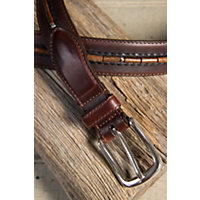 Naples Taper Leather Belt, Brown, Size 38 Western & Country