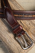 Men's Naples Taper Leather Belt