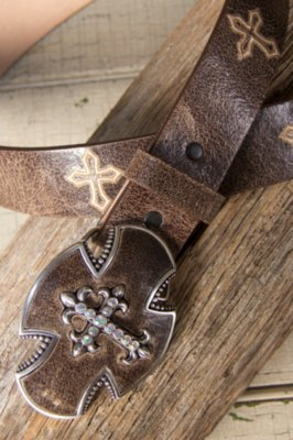 Gato Cross Leather Belt