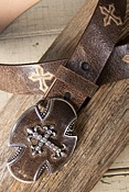Gato Cross Leather Belt