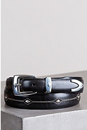 Denver Diamond Leather Belt