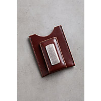 Salina Leather Money Clip, BROWN, Size 1 SZ