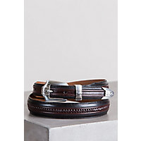 Pinon Hill Inlay Belt, BLACK/BROWN, Size 36