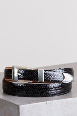 Avalon Basketweave Taper Leather Belt