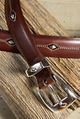 Denver Diamond Leather Belt (Sizes 46 - 48)