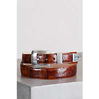 Croco Taper Leather Belt, Honey, Size 34 Western & Country