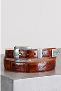 Croco Taper Leather Belt
