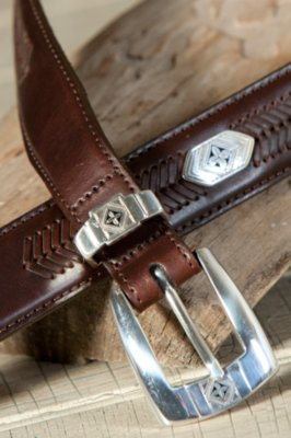 Cape Verde Ornament Leather Belt