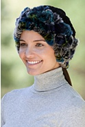 2-in-1 Chenille and Rex Rabbit Fur Hat or Collar