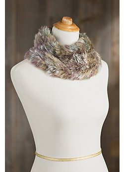 Women's Rabbit Fur Neck Warmer
