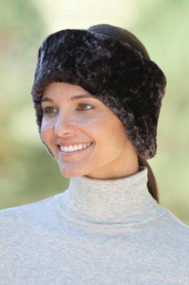 Tapered Shearling Sheepskin Headband
