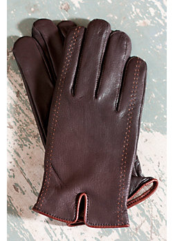 Men's Tacoma Deerskin Gloves with Cashmere Lining