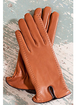 Women's Sequoia Deerskin Leather Gloves with Cashmere Lining