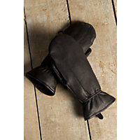 "Women's Seneca Leather Mittens, Black, Size Small (6.5"") Western & Country"