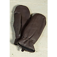 "Women's Seneca Leather Mittens, Brown, Size Small (6.5"") Western & Country"