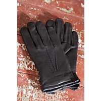 """Men's Mohawk Deerskin Leather Gloves With Cashmere Lining, Black, Size Large (9.5-10"""") Western & Country"""