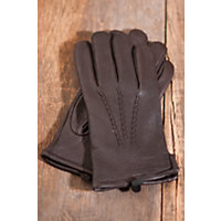 """Men's Mohawk Deerskin Leather Gloves With Cashmere Lining, Brown, Size Xxlarge (11.5-12"""") Western & Country"""