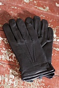 Men's Mohawk Deerskin Leather Gloves with Cashmere Lining