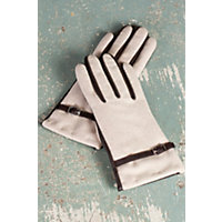 Women's Solitaire Sensor Touch Lambskin Leather And Wool Gloves, Sand / Brown, Size Xlarge (8) Western & Country