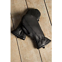 Men's Sioux Deerskin Leather Finger Mittens, Black, Size Medium (8.5-9) Western & Country