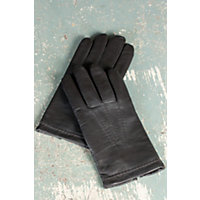 Men's Mercedes Sensor Touch Lambskin Leather Gloves, Black, Size Small (7.5-8) Western & Country
