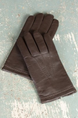 Men's Mercedes Sensor Touch Lambskin Leather Gloves