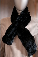 Women's Knitted Rex Rabbit Fur Scarf