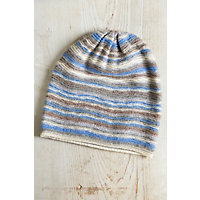 Blue Sky Knitted Cashmere Beanie Hat