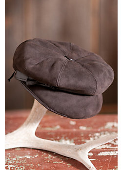 Women's Sheepskin Hat with Leather Bow