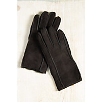 Women's Classic Sheepskin Gloves, Black, Size Large Western & Country